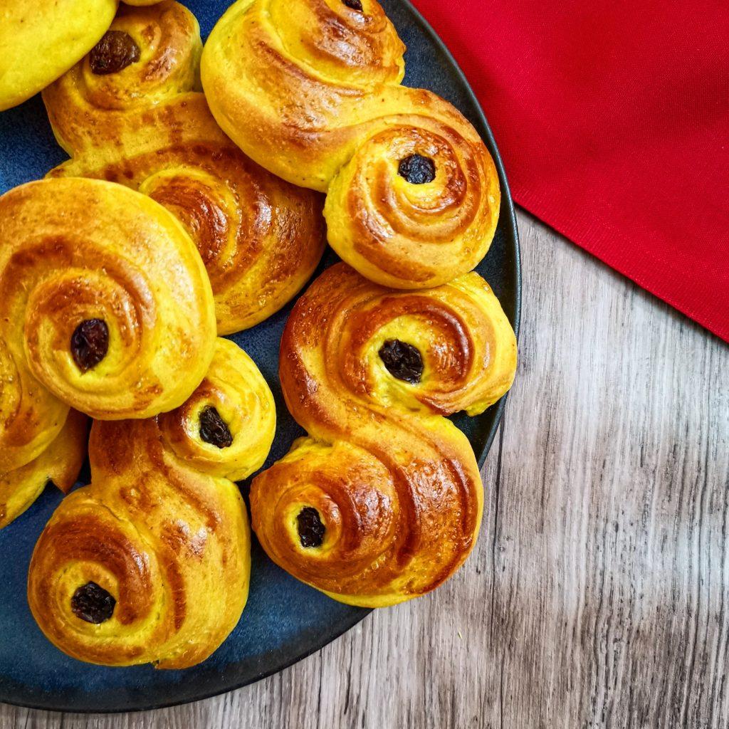 julrecept Jul Lussebullar lussekatt saffran lucia lusse advent adventsfika bakning bakrecept recept