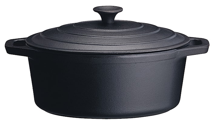 Gryta oval 4,3 L med Järnlock