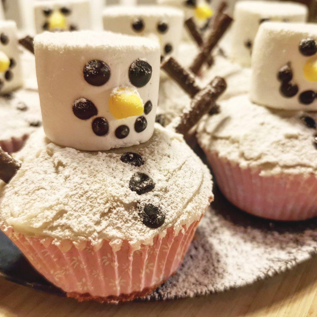 Muffin cupcake snowman cute gullig pepparkaka mjuk pepparkak