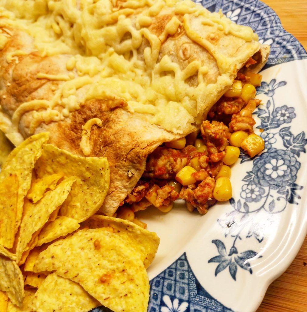Enkel Kycklingenchiladas kyckling chicken corn majs