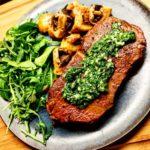 ryggbiff svamp champinjon steak
