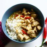 Grön Curry Kyckling Ris Chili