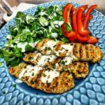 Kycklingkebab med Kycklingfärs spett kyckling chicken kebab sallad
